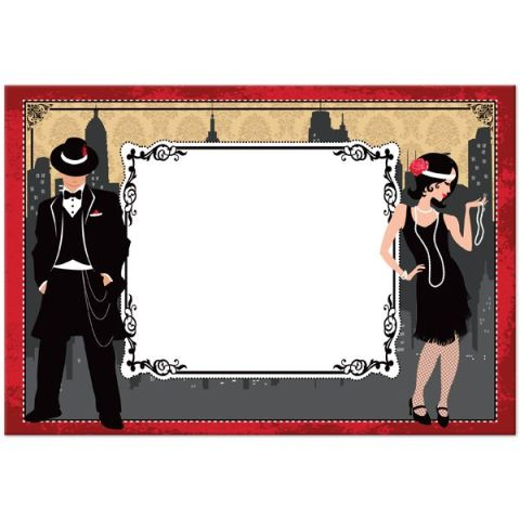 Gangster Themed Party Invitations